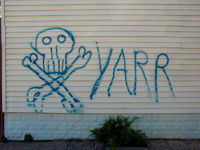 jolly roger grafitti